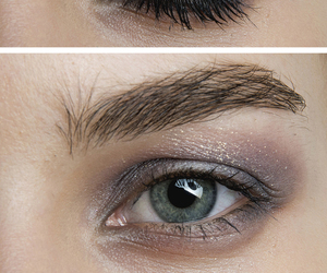 blue, cool, and makeup image