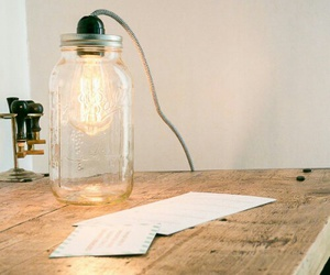 bottle, diy, and lamp image