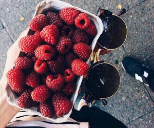 food, summer, and raspberry image