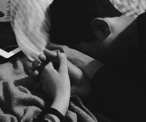boy, hands, and sleep image