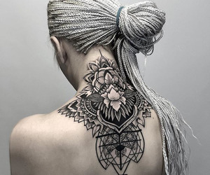tattoo, hair, and black image