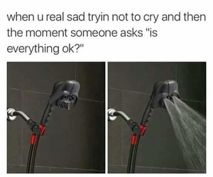 funny, cry, and sad image