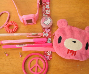 gloomy bear, all things pink, and hello kitty image