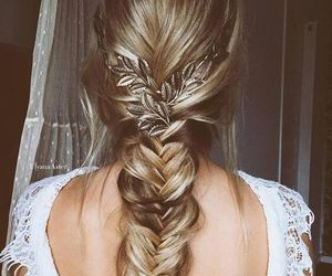 blond, boho, and braid image