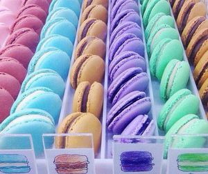 food, macaroons, and colorful image