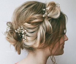 blond, boho, and wedding image