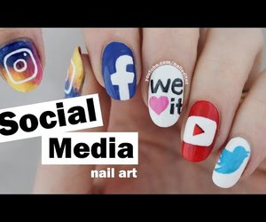 beauty, video, and nail tutorial image