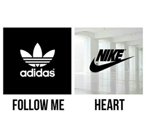 nike, adidas, and heart image