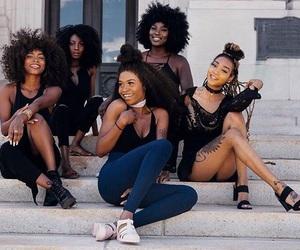 melanin, squad, and black girls image