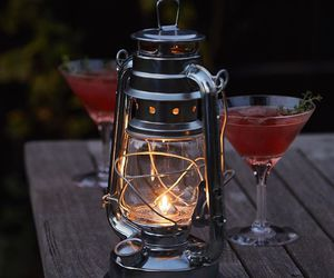 cocktail, drink, and lamp image
