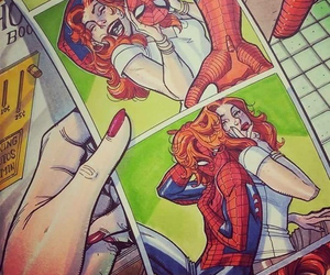 spiderman, peter parker, and mary jane watson image