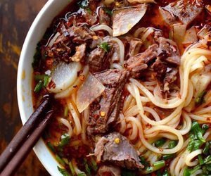 noodles and beef image