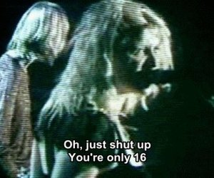 Courtney Love, grunge, and shut up image