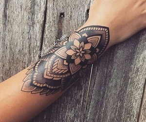 tattoo, arm, and hand image