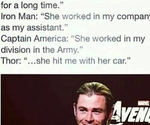 thor, Marvel, and Avengers image