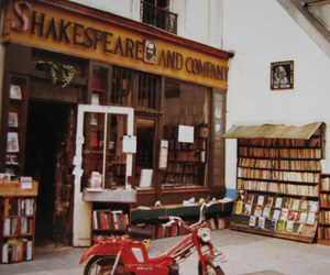 paris, books, and shakespeare and company image