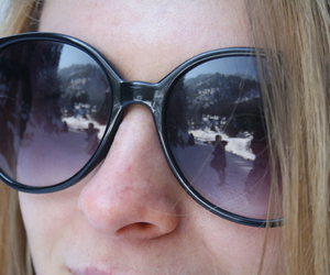 eyes, snow, and sunglasses image
