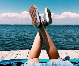 summer, girl, and vans image