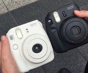 black, white, and camera image