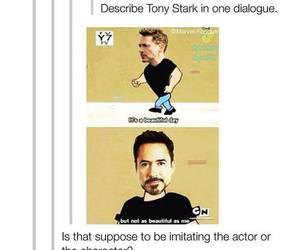 tony stark, funny, and Marvel image