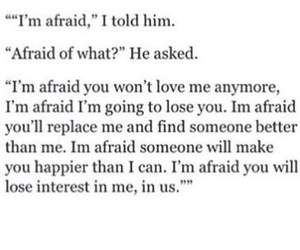 afraid, quotes, and love image