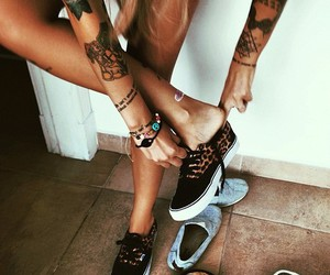 tattoo, girl, and vans image