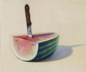 art, painting, and watermelon image