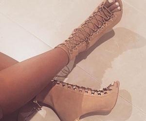girl, Nude, and heels image