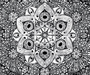 mandala, background, and black and white image