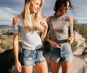 best friends, boho, and fashion image