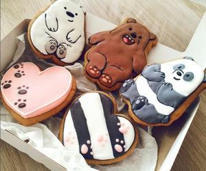 food, bear, and Cookies image