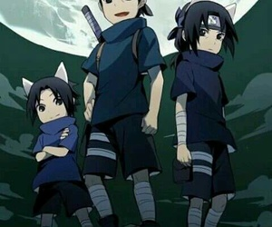 sasuke, naruto, and itachi image