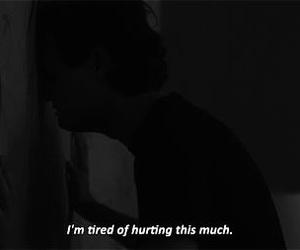 hurt, sad, and tired image