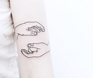 tattoo, hands, and white image