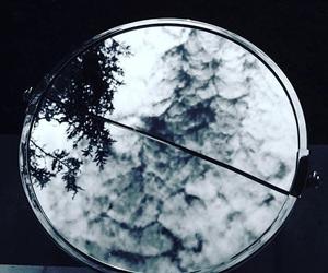 dark, mirror, and moon image