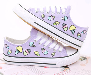 converse, Harajuku, and ice cream image