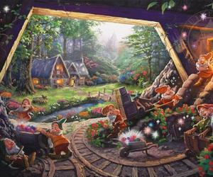 disney, snow white, and dwarves image