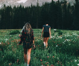 girls, nature, and adventure image