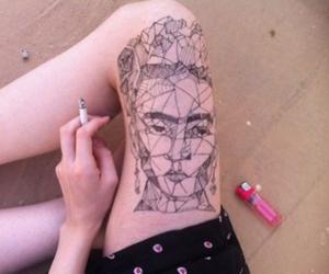 tattoo, art, and Frida image