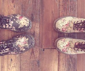 shoes, floral, and boots image