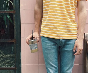 boy, yellow, and connor franta image