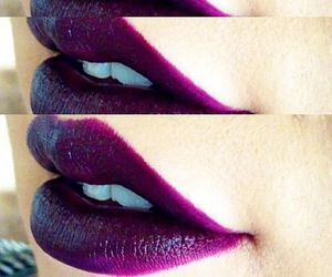 lips, purple, and lipstick image