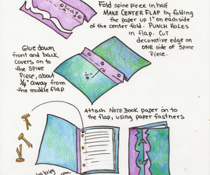 diy, binding loose leaves, and mini book binding image