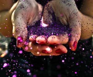 glitter, girl, and purple image