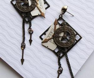 clock, cool, and earrings image