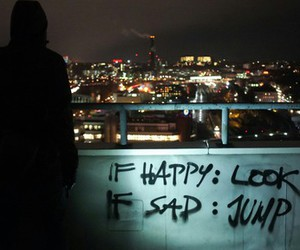 sad, happy, and jump image