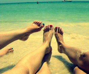 beach, nails, and toes image