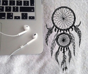 apple, headphones, and tatto image