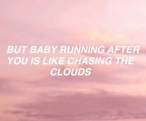 quotes, one direction, and clouds image
