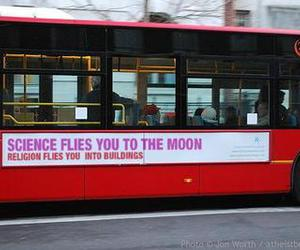 bus, atheist, and religion image